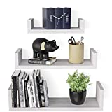 SRIWATANA Floating Shelves Wall Mounted, Solid Wood