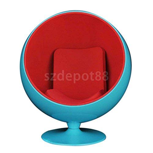 1/6 Scale Blue Swivel Egg Chair Fit 12'' Hot Toys Phicen Kumik Action Figures by uptogethertek