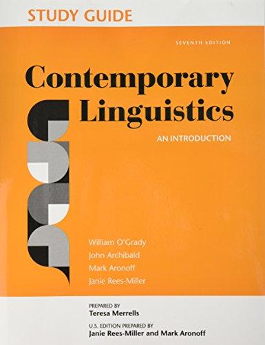 Study Guide for Contemporary Linguistics