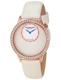 Stuhrling Original Women's 8336.124P2 Vogue Audrey Radiant Swiss Quartz Mother-Of-Pearl Dial Rose Tone Watch