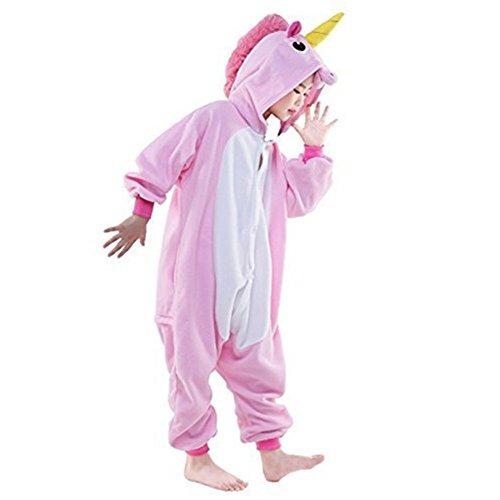 Unicorn/Unicornio Pijama Felpa Trajes En general Ropa de dormir Ropa de noche Ropa de salón Para niños y adultos Rosado