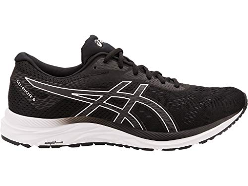 ASICS Men's Gel-Excite 6 Running Shoes, 10XW, Black/White