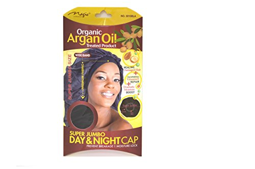 Organic Argan Oil Hair Sleep Cap & Bonnet Super Jumbo Size By Magic Collection