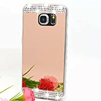 Galaxy S7 Case,HAOTP(TM) Beauty Luxury Diamond Hybrid Glitter Bling Soft Shiny Sparkling with Mirror Back Cover Case for Samsung Galaxy S7