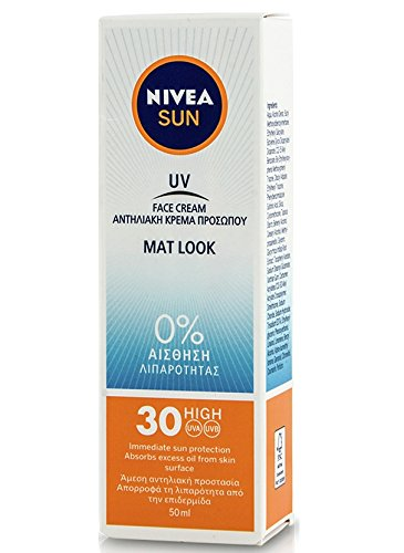 Nivea Sun UV Sunscreen Face Shine Control Cream for Mat Look SPF30 50ml