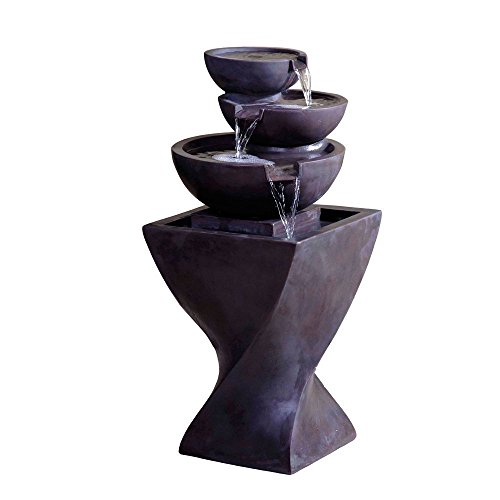 Jeco Modern Tier Bowls Indoor Water Fountain