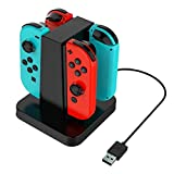 DreamDirect Nintendo Switch Joy Con Charge Stand, 4 in 1 Charge Docks Stand with LED indication for Nintendo Switch Joy Con