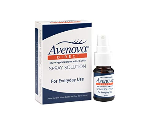 Avenova Eyelid and Lash Cleanser for Soothing and Effective Relief from Irritation, Dry Eyes, Styes and Blepharitis. Pure and Gentle Hypochlorous Acid Spray, 20mL (0.68 oz)