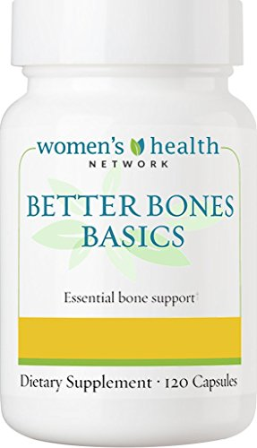 Better Bones Basics By Women's Health Network - Calcium, Magnesium, Zinc, Vitamin D, Vitamin K, Manganese, and Boron - 120 Capsules