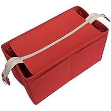Felt Tote Organizer (w/ Top Zipper), Bag in Bag, Wool Purse Insert, Customized Tote Organize, Cosmetic Makeup Diaper Handbag
