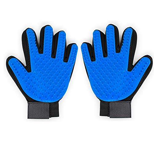 Kimwa Pet Grooming Gloves, One Pair/Right-Hand, Efficient Hair Remover Mitts, Gentle Hair Removal Tool, Perfect for Dogs, Cats and Any Furry Pet