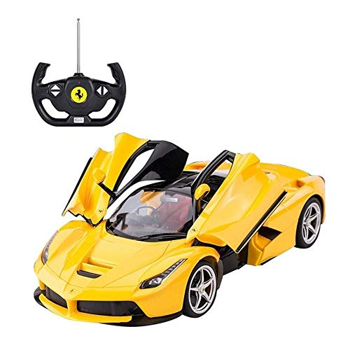 - Luccky 2.4GHz Radio Controlled Racing Monster Car Electric Toys for Kids Radio Controlled Electric Kids Toy with LED Lights, Sports Racing Vehicle Gifts for Children Boys Girls Adults - Yellow
