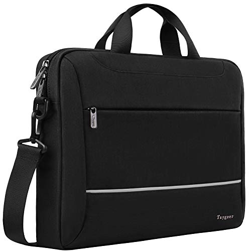 Laptop Case 15.6 inch, Laptop Bag Briefcase for Men Women, Slim Business Portable Carrying Computer Shoulder Bag, 15 Laptop & Tablet Attache for HP/Dell/Lenovo/Asus/Apple/Acer/Microsoft Surface, Black
