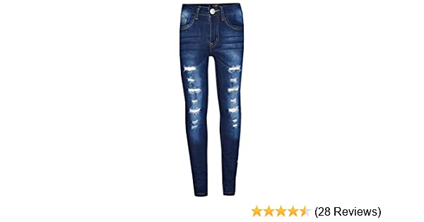 5c5dd7fa9 Amazon.com  Kids Girls Skinny Jeans Denim Ripped Stretchy Pants Jeggings  New Age 3-13 Years  Clothing