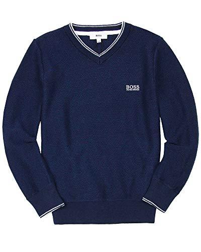 BOSS Boys Basic V-Neck Pullover, Sizes 6-16 - 10 by BOSS (Image #2)