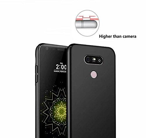 SMTR LG G6 Funda, Calidad Premium Cubierta Delgado Caso de PC Hard Gel Funda Protective Case Cover +1 film Protector de pantalla para LG G6 -rojo case * film- Oro rosa(nuevo)