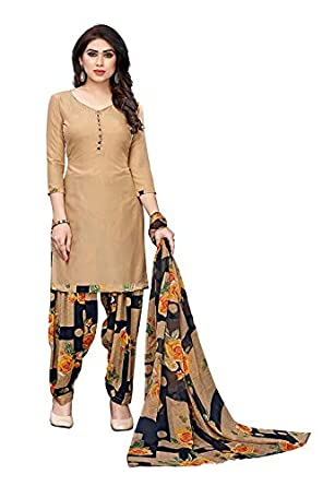Vashtram Women's Lyon/Heavy Crepe Dress Material