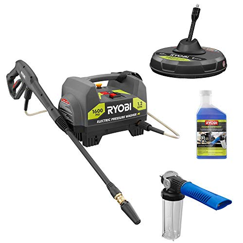 RYOBI-RY141612-CMB1-1600-PSI-12-GPM-Electric-Pressure-Washer-with-Surface-Cleaner-Foam-Blaster-and-Detergent