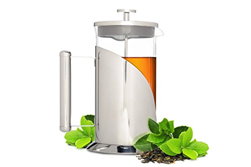 Palm French Press Coffee Maker : Cafe Du Chateau French Press, 4 Level Filtration System,