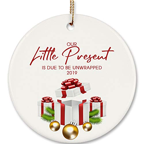 Expecting Christmas Ornaments.Amazon Com Our Little Present 2019 Pregnancy Announcement