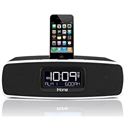 iHome iP90 Dual Alarm Clock Radio AM/FM Presets & Dock for iPod and iPhone (Not Compatible w/iPhone 5)