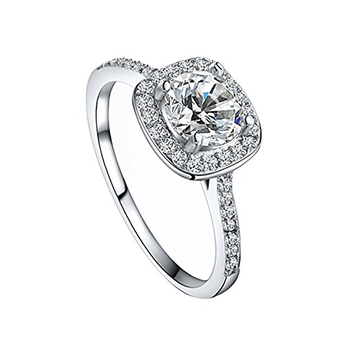 Women's Crystal Engagement Wedding Jewelry Ring (8)