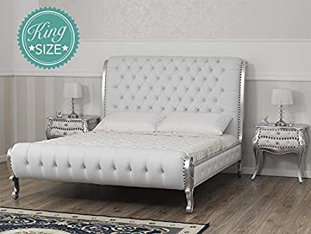 Lit Double King Size Ola Style Baroque Moderne Feuille ...