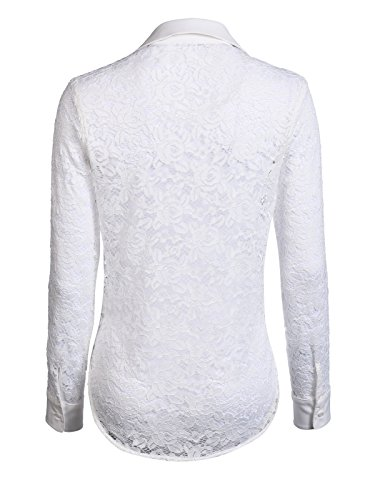 Blanco J Para l By Mujer Camisas Mocca Y1aw6