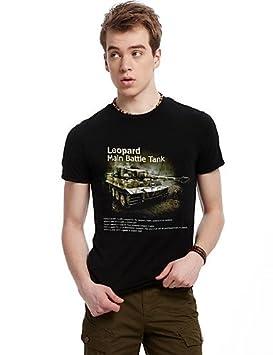 UY & UY Hombre Tiempo Libre/oficina/Sport – Camiseta Impresión Corta Algodón,