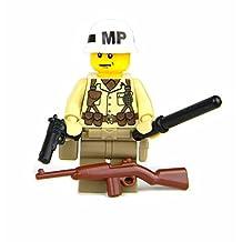"WW2 U.S. Army Military Police ""MP"" (SKU72)- Battle Brick Custom Minifigure"
