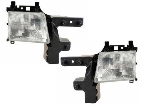 Dodge Van Headlight OE Style Replacement Headlamp Driver/Passenger Pair New - Dodge Van Headlight Assembly