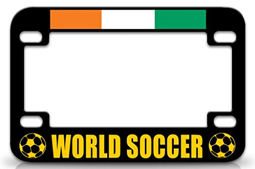 Côte D'ivoire World Soccer Country Nationality Metal MOTORCYCLE TAG FRAME Bl/Yl