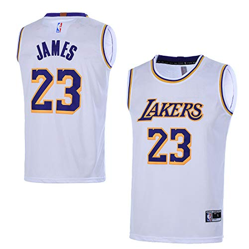 Outerstuff Youth 8-20 Los Angeles Lakers #23 LeBron James Kids Jersey (Youth X-Large 18/20, White) ()