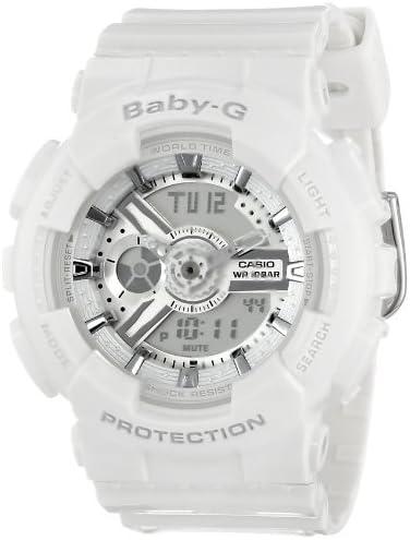 時計 Casio カシオ Women's BA-110-7A3CR Baby-G Analog Display Quartz White Watch ウィメンズ レディース 女性用 [並行輸入品]