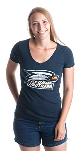 Georgia Southern University | GSU Eagles Vintage Style Ladies' V-neck T-shirt