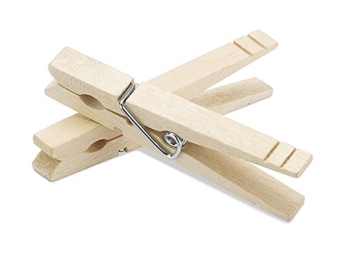 Hecentur 50PCS Natural Wood Clothespins Natural Clothespins