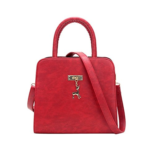 Walcy PU Leather European And American Style Women's Handbag,Vertical Section Square Tote HB880104C3 (American Classic Jr Writing)