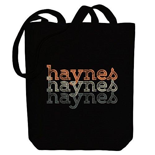 Idakoos Haynes repeat retro - Nachnamen - Bereich für Taschen