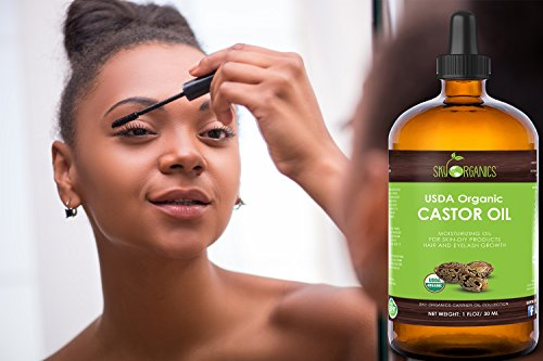 Organic Castor Oil By Sky Organics, Cold-Pressed, 100% Pure, Hexane-Free Castor Oil - Dry Skin, Hair Growth, Eyelashes growth and eyebrows growth- Caster Oil Lash Enhancer with Mascara Brushes (30ml) by Sky Organics (Image #3)