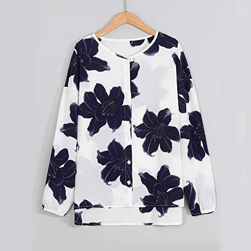 Manche Mode Longues Tops Blouse Shirt Denudee Epaule Blanc Femme A Tees Casual Chemisier T Fleurs Ladies Chic Sexy Imprim vPanxwzq