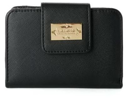 - Nanette Lepore French Leather Coin Purse Mini Pouch Change Wallet for Women - Black