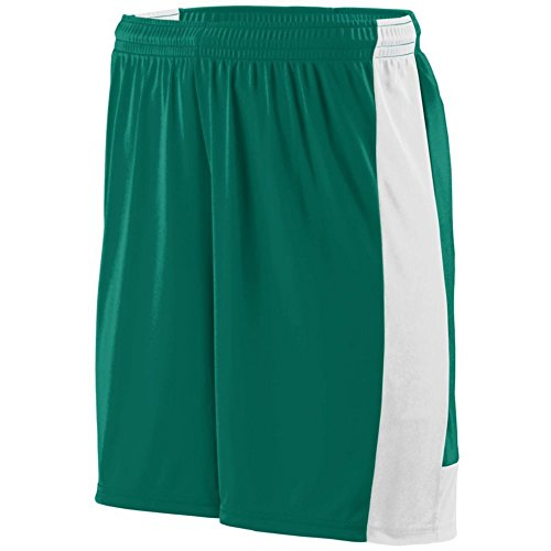 Augusta Athletic Lighting Short - Youth, Dark Green/White, XX Small by Augusta Athletic