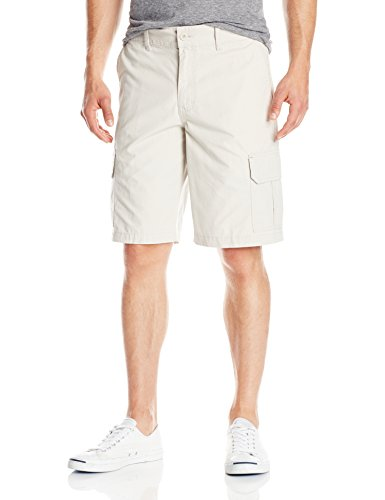 Dickies Men's 11 Inch Relaxed Fit Lightweight Ripstop Cargo Short, Stone, 34 ()