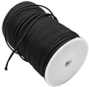 100M Paracord 9 Strand Cord Spool Parachute Rope Traction Rescue Rope Tent Rope Black for Outdoor Hiking Campi