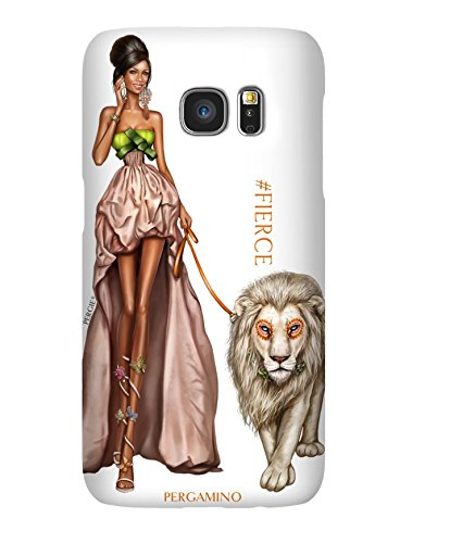 Samsung S7 Case by Luxury Designer Brand PERGAMINO   Protective Hard Cover, Slim Fit & Lightweight   Featuring Fashion Icon PERGIE - Brands Luxury Designer