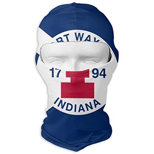 LaoJi Fort Wayne Flag Winter Ski Mask Balaclava Hood - Wind-Resistant Face Mask