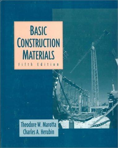 Basic Construction Materials by Theodore Marotta (1996-10-30)