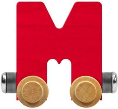 Maple Landmark NameTrain Bright Letter Car M - Made in USA (Red)