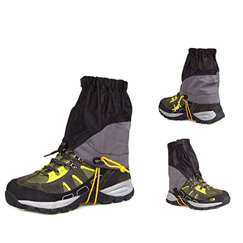 AMYIPO Ultra-Light Trail Snow Leg Gaiter Shorter Hiking Boots Gaiters Waterproof Gaiters (Black)