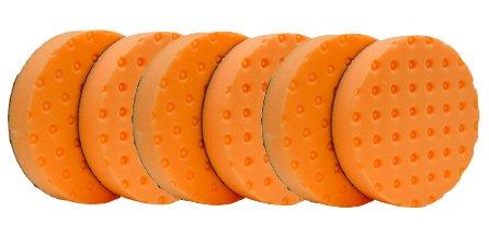 "Lake Country 6.5"" CCS Orange Flat Foam Polishing Pads  6-Pac"